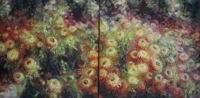 8. Autumn Flowers Diptych